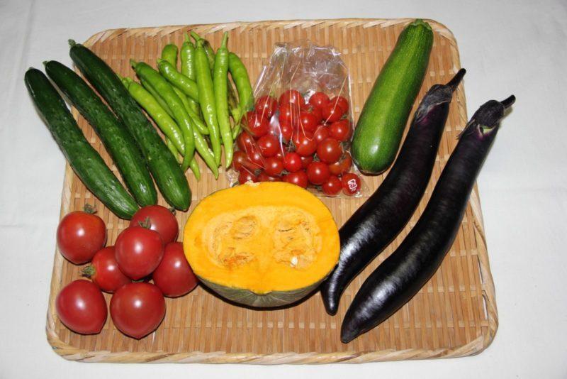 自然栽培の野菜