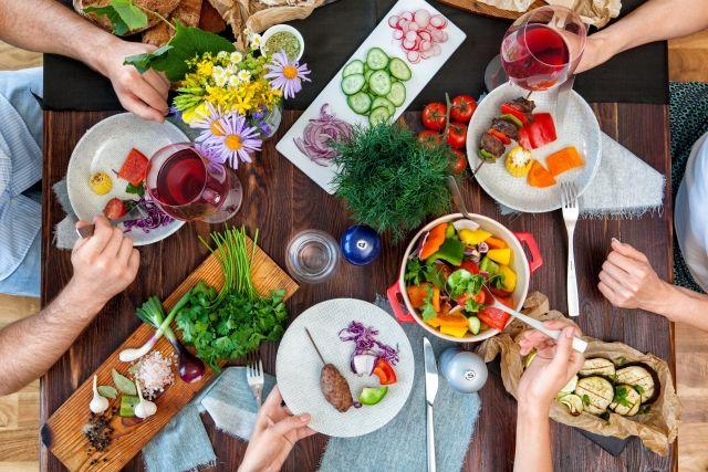 おいしい野菜がある食卓の風景