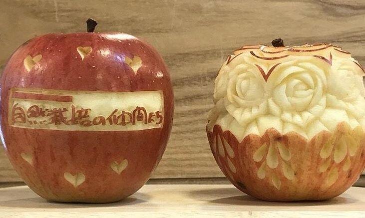 自然栽培のりんご